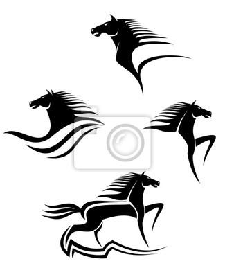 Black horses Symbole