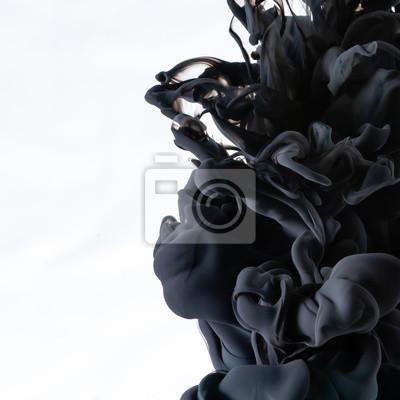 Fototapete black ink in water cropped