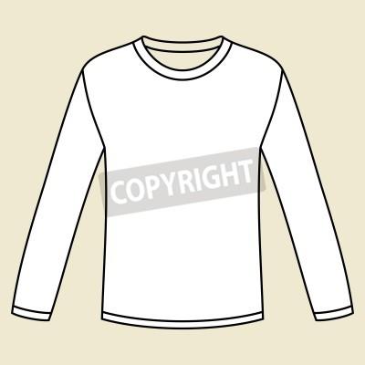 Black Long Sleeved T Shirt Template Fototapete Fototapeten