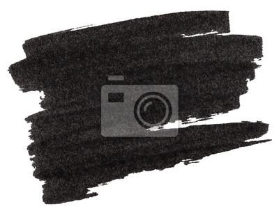 Fototapete Black marker paint texture isolated on white
