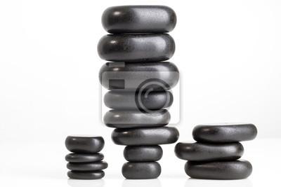 black pebble stones for spa massage