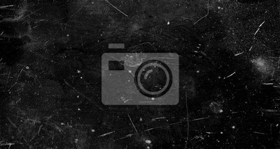 Fototapete Black scratched grunge background, old film effect, space for text