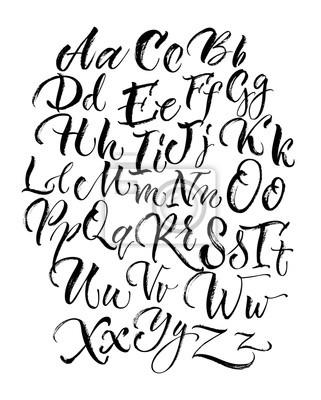 Black Scrawling Großbuchstaben und Kleinbuchstaben