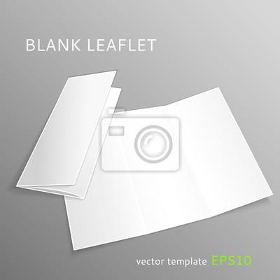 Blank broschüre fototapete • fototapeten Breitseite ...