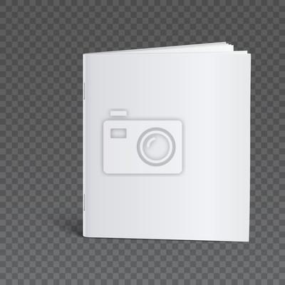 Blank broschüre vorlage mock-up fototapete • fototapeten Taschenbuch ...