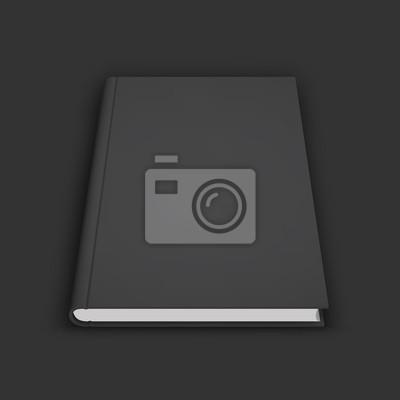 Blank buch, schulbuch, broschüre oder notebook mockup. fototapete ...