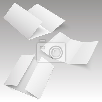 Blank drei gefaltete faltblatt broschüre, flyer, broadsheet ...