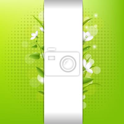 Blank Papier mit Blättern und Gras