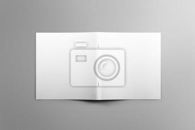 Blank square photorealistische broschüre mockup auf hellgrauem ...