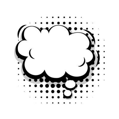 Blank vorlage spaß komischen rede cloud blase halbtonpunkt ...