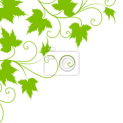 Blatt, deko, wein, weinblatt, ranke, textur, vektor, vorlage ...