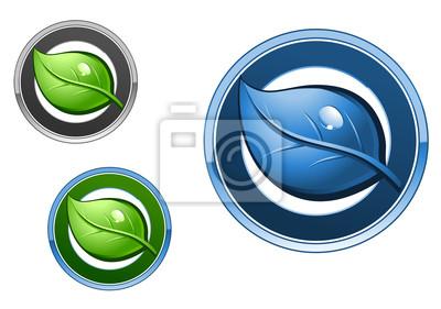 Blatt-Icons für Ökologie-design