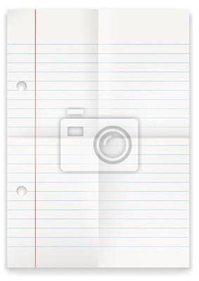 Blatt papier - liniert und gefaltet fototapete • fototapeten Datei ...