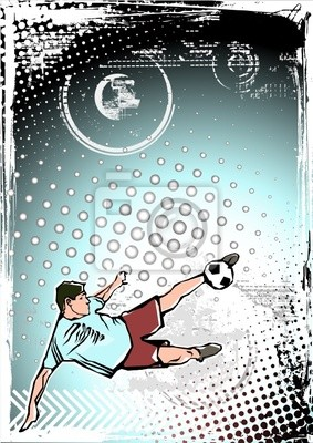 blau Fußball-Hintergrund