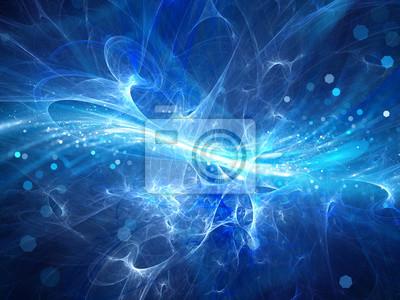 Fototapete Blau glühenden Hochenergie-Plasma-Feld im Raum