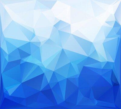Fototapete Blau Kant Mosaic Hintergrund, kreatives Design Vorlagen