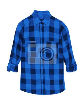 blau kariertes hemd
