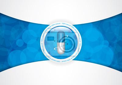Blau medizinischen Hintergrund
