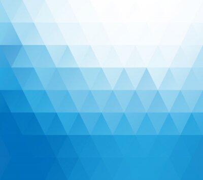 Fototapete Blau Weiß Mosaik Hintergrund, kreatives Design Vorlagen