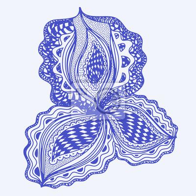 Blaue abstrakte floralen Element für dekorative Gestaltung.