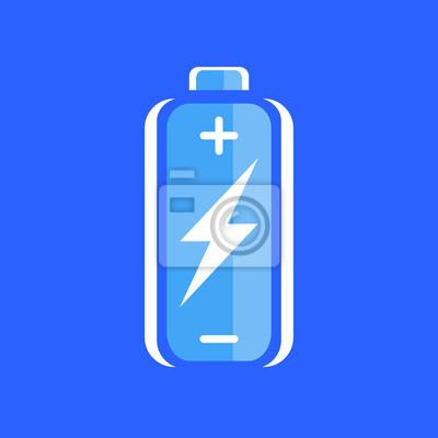 Blaue batterie-lade-symbol. batterieladezeichen. batteriesymbol ...