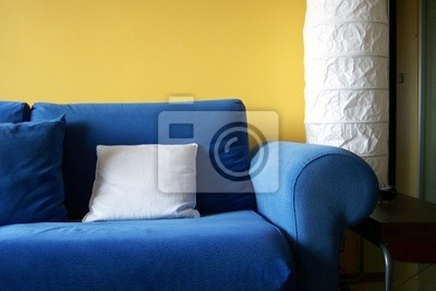 Blaue Couch Fototapete Fototapeten Blaue Couch Abfedern Couch