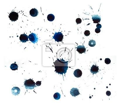 Blaue Flecken von Aquarell malen