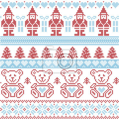 Blaue und rote skandinavischen inspiriert nordic weihnachten ...