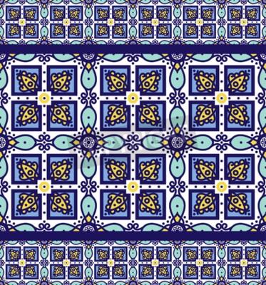 Blaue Verzierung Traditionelle Portugiesische Azulejos