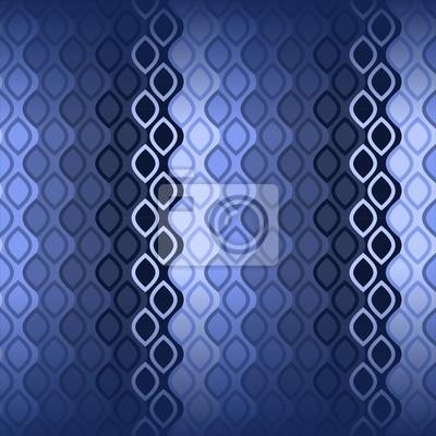 Fototapete: Blaue wellen-muster der 70er jahre tapeten nahtlose textildruck