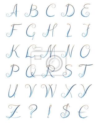 blauen Buchstaben, Kreise