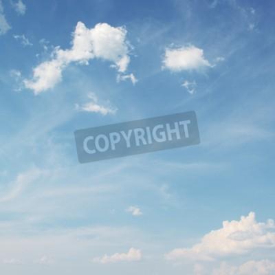 Fototapete Blauer Himmel mit weißen Wolken Hintergrund