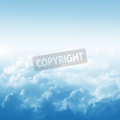 Fototapete Blauer Himmel und Wolken abstrakte Darstellung