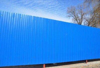 Blauer Metallzaun Garten Fechten Zaun Paneele Garten Tore