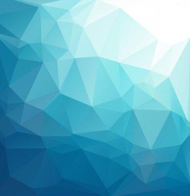 Fototapete Blauer polygonaler Mosaikhintergrund, kreative Entwurfs-Schablonen