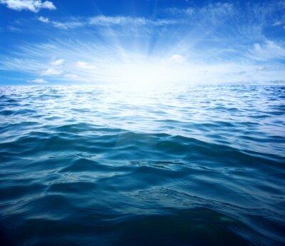 Fototapete Blaues Meer und Sonne