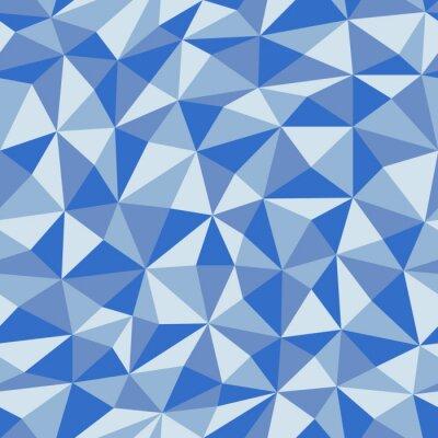 Fototapete Blaues zerknittertes Papier mit geometrischem nahtlosem Muster