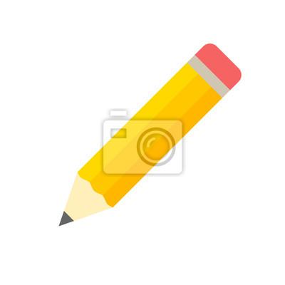 Fototapete Bleistift-Icon flachen Design-Vektor isoliert