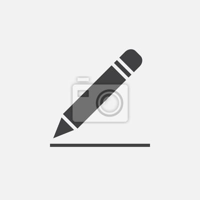 Fototapete Bleistift-Symbol, bearbeiten Zeichen