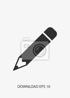 Fototapete Bleistift-Symbol, Vektor