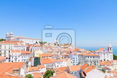 Fototapete Blick auf Alfama, Lissabon, Portugal