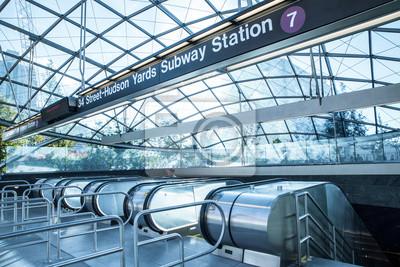 Fototapete Blick auf den Eingang der neuen U-Bahnstation Hudson Yards 7