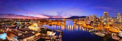 Fototapete Blick auf den Hafen von Vancouver