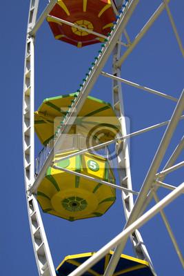Blick auf den Stand Attraktion Riesenrad