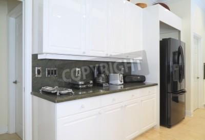 Schöne Moderne Küchen blick auf eine schöne moderne küche mit gehobenen haushaltsgeräte