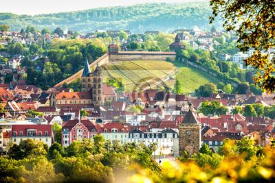 Blick Auf Esslingen Am Neckar Deutschland Mit Schloss Fototapete
