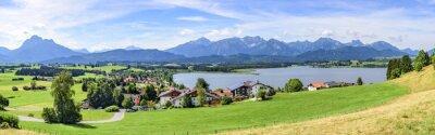 Fototapete Blick auf Hopfen am See im Allgäu