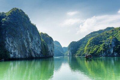 Fototapete Blick auf Lagune in der Ha Long Bay, das Südchinesische Meer, Vietnam