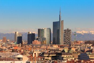 Fototapete Blick auf Mailand, Italien