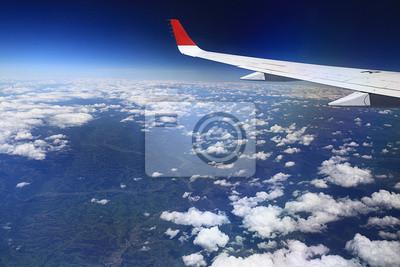 Blick Aus Dem Flugzeug Flügel Himmel Fototapete Fototapeten Tour